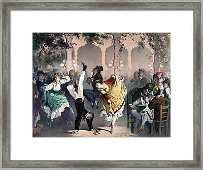 Quadrille At The Bal Bullier Framed Print by G Barry