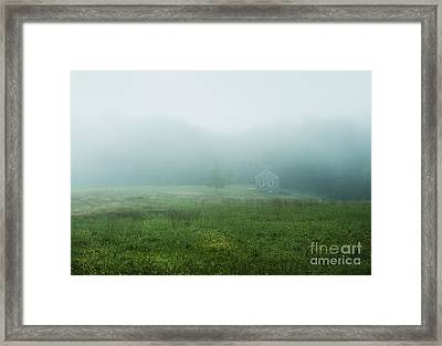 Quaint Stone Cottage Framed Print