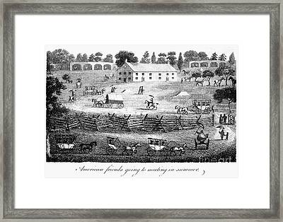 Quaker Meeting, 1811 Framed Print by Granger