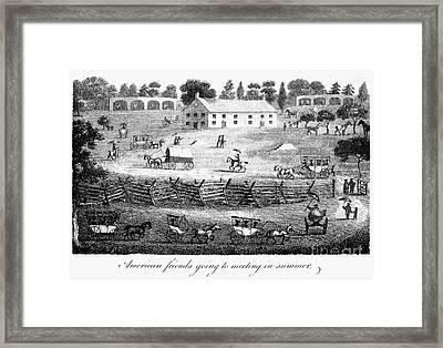 Quaker Meeting, 1811 Framed Print