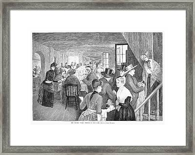 Quaker Meeting, 1888 Framed Print