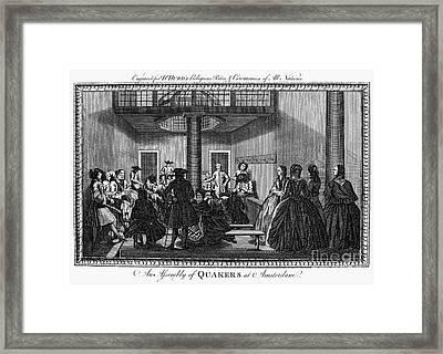 Quaker Meeting, C1790 Framed Print