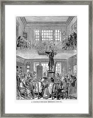 Quaker Meeting House Framed Print by Granger