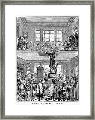 Quaker Meeting House Framed Print