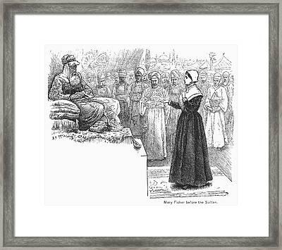 Quaker Missionary, 1658 Framed Print