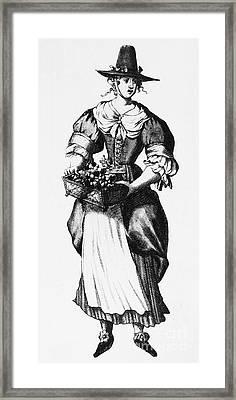 Quaker Woman, 17th Century Framed Print by Granger