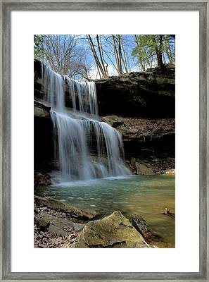 Quakertown Falls Framed Print