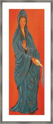 Quan Yin Pouring Framed Print by Suzan  Sommers