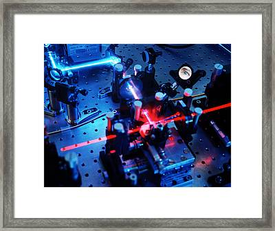 Quantum Cryptography Equipment Framed Print by Volker Steger