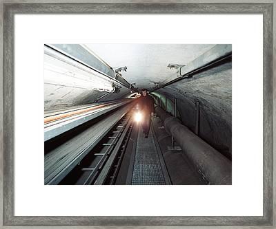 Quantum Entanglement Tunnel Framed Print by Volker Steger
