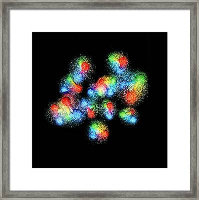Quark Structure Of Carbon Atom Nucleus Framed Print by Arscimed