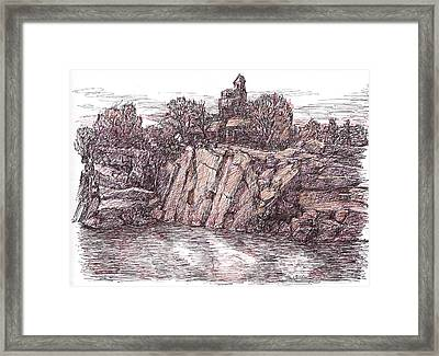 Quarry At Halibut Point Framed Print