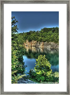 Quarry Of Reflections 2 Framed Print by Heather  Boyd