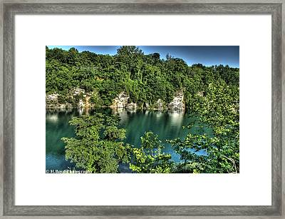 Quarry Of Reflections Framed Print by Heather  Boyd