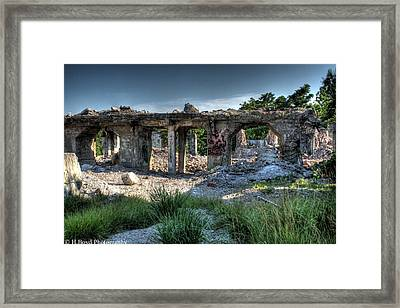 Quarry Ruins Framed Print by Heather  Boyd