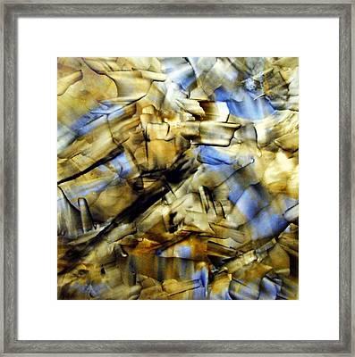 Quasi Scape Blue Framed Print by Turgay Denizel