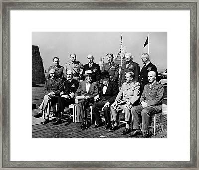 Quebec Conference, 1944 Framed Print