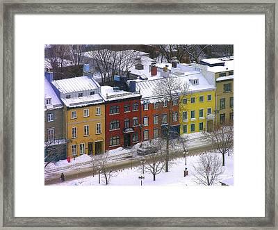 Quebec Streetscene Framed Print
