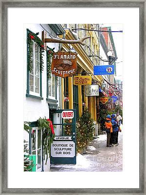 Quebec's Old City 2 Framed Print