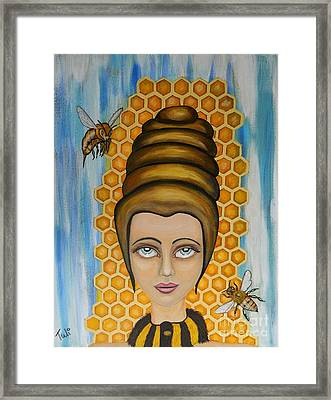 Queen Bee And The Nectar Of The Gods Framed Print by Claudia Tuli