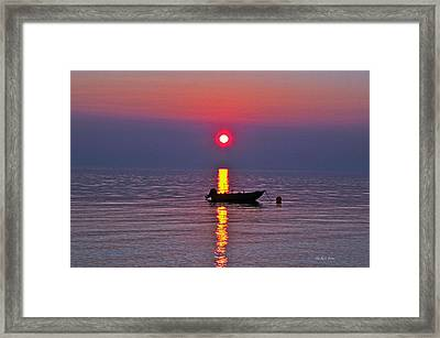 Queen Charlotte Sunset Framed Print by Michael Potts