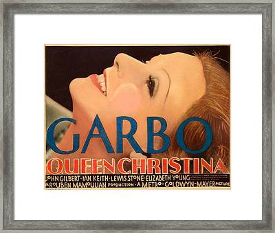 Queen Christina, Greta Garbo, 1933 Framed Print by Everett