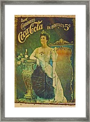 Queen Drinks Coca Coala Framed Print by Cyryn Fyrcyd