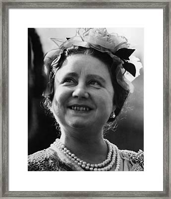 Queen Elizabeth 1900-2002, The Queen Framed Print
