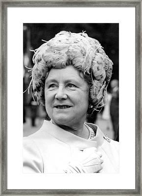 Queen Elizabeth Aka Queen Mother, May Framed Print