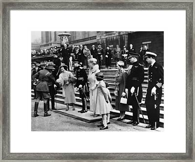 Queen Elizabeth Front, Second Framed Print