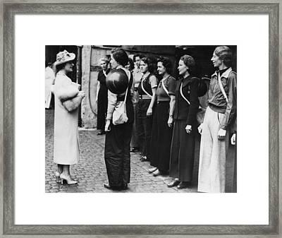 Queen Elizabeth Left, The Former Framed Print