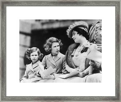 Queen Elizabeth Right, The Former Framed Print