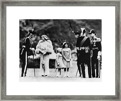 Queen Elizabeth Second From Left Framed Print
