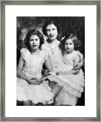 Queen Mother Elizabeth Center Framed Print