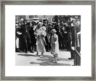 Queen Mother Elizabeth Center Left Framed Print