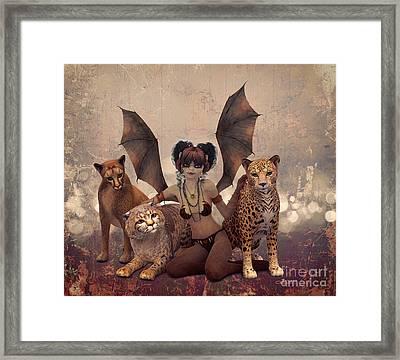 Queen Of Cats Framed Print by Jutta Maria Pusl