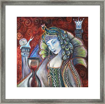 Queen Of Her Own Heart Framed Print by Margaret Eve