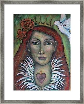 Queen Of My Own Heart Framed Print by Shoshanna Lightsmith