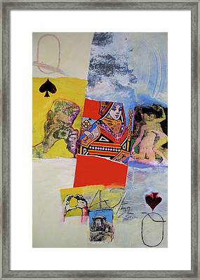 Framed Print featuring the mixed media Queen Of Spades 45-52 by Cliff Spohn