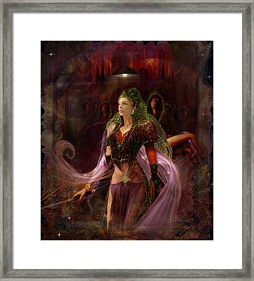 Framed Print featuring the painting Queen Of The Dead by Steve Roberts
