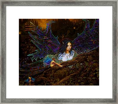 Framed Print featuring the painting Queen Of The Fairies by Steve Roberts