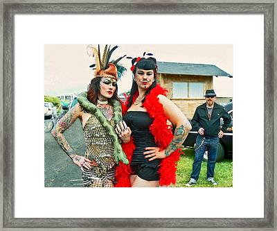 Queenie And Bettie Framed Print by Pamela Patch
