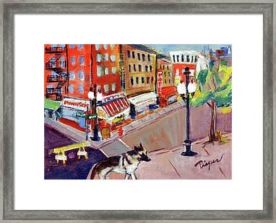 Queenie On Forsythe Street Manhattan Nyc Framed Print