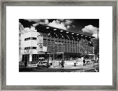 queens student union building qubsu su university road Belfast Northern Ireland UK Framed Print by Joe Fox