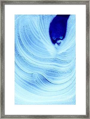 Query Blue Framed Print by Jamie Lynn