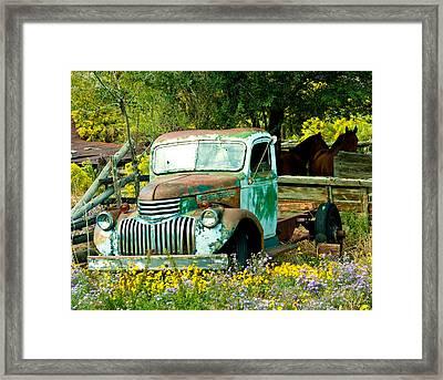 Questa Truck Framed Print
