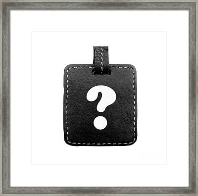 Question Mark Framed Print by Blink Images