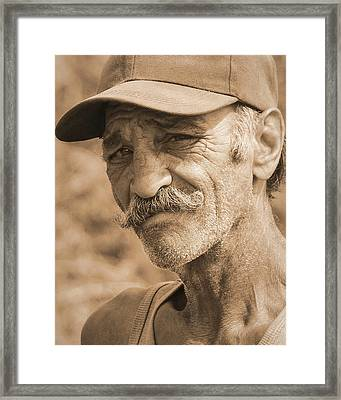 Quick-eyed Man Framed Print