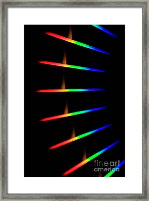 Quicklime Spectra Limelight Framed Print