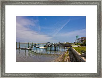 Quiet At The Sound Framed Print by Betsy Knapp